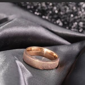 Other - Rose Gold Textured Finish Ring